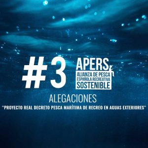 """#3  Alegaciones al """"Proyecto real decreto pesca marítima de recreo en aguas exteriores"""" Ministerio de agricultura, pesca y alimentación Secretaria general de pesca Dirección general de pesca sostenible"""